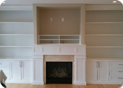 Painted Maple Wall Unit