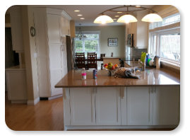 Painted White Maple Cabinets